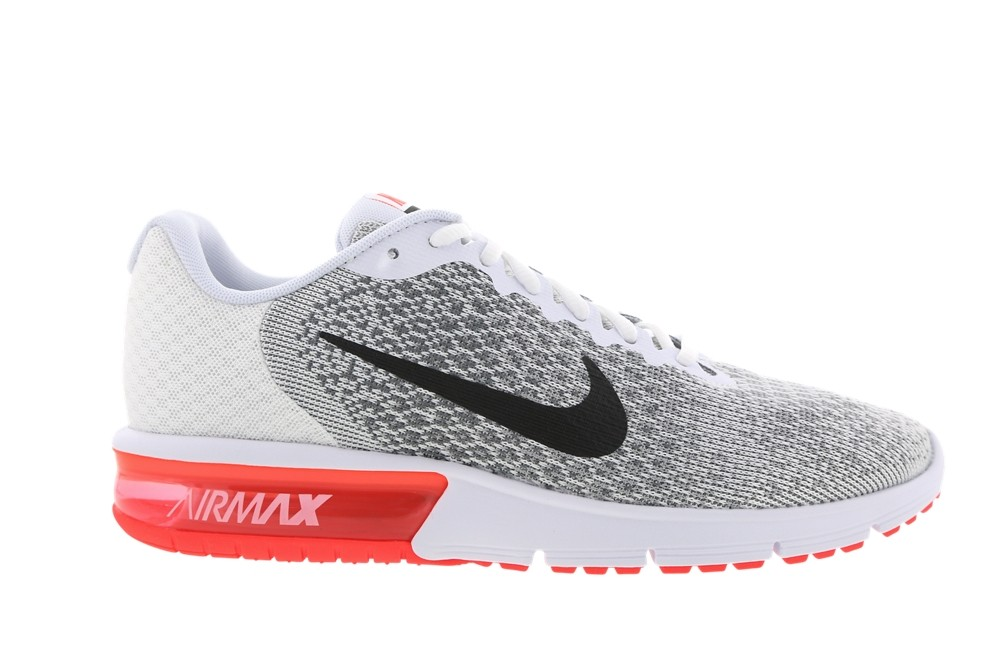 nike air max sequent 2 blanches et rouges