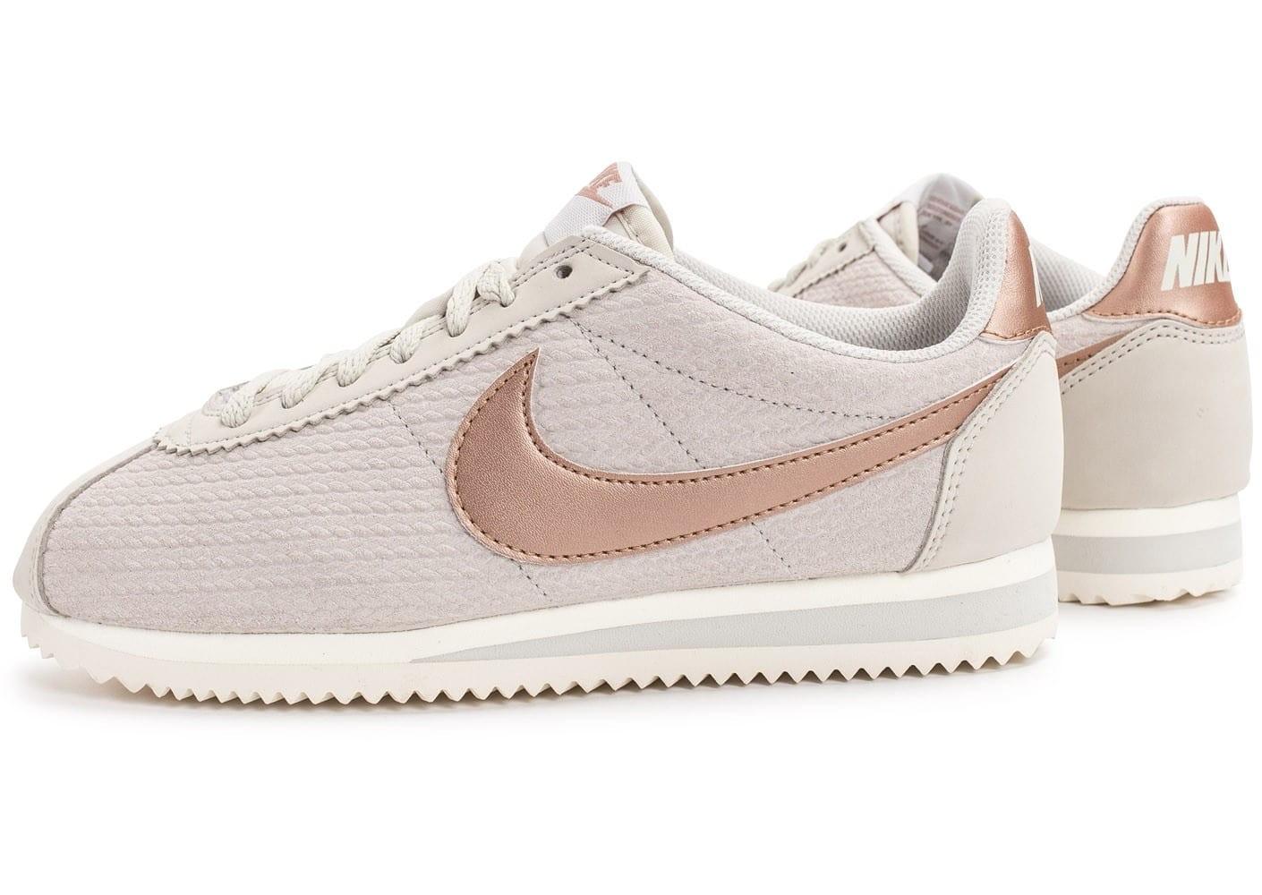 Nike Cortez Bronze Femme Nike Femme Cortez Verte Et Rose Pas