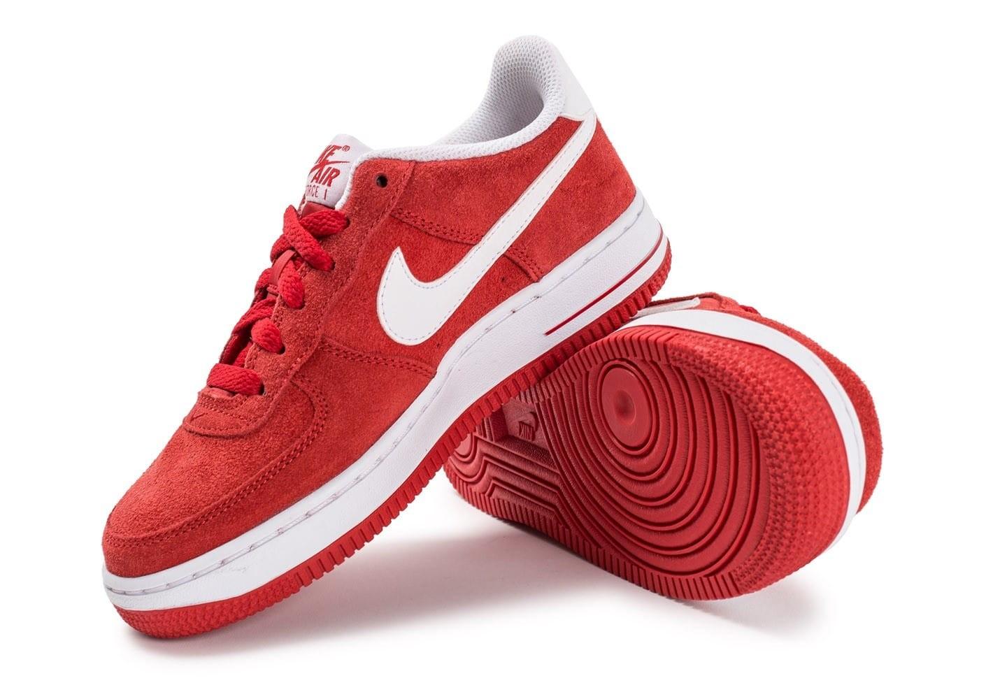 Nike Air Force 1 Suede Junior rouge
