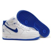 nike air force 1 mid bleu
